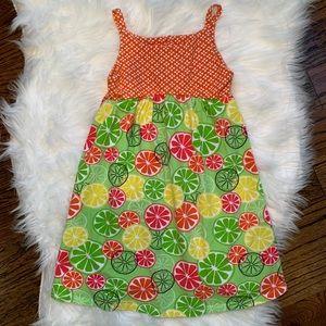 Counting Daisies Summer Citrus Sleeveless Dress